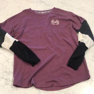 Victoria Secret PINK Long Sleeve Camp Shirt  XS